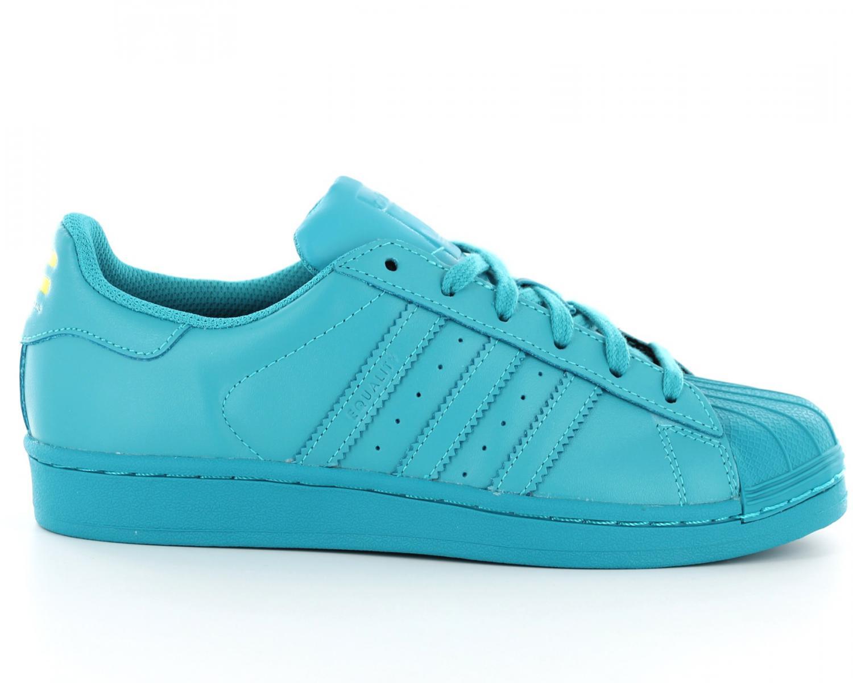 Chaussure Adidas Superstar 2 Formateurs Leather Noir Beige