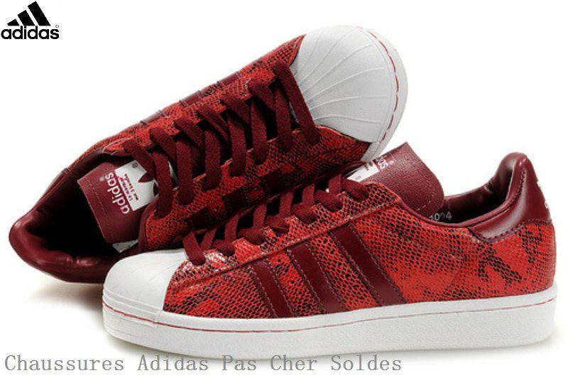 adidas superstar rouge femme