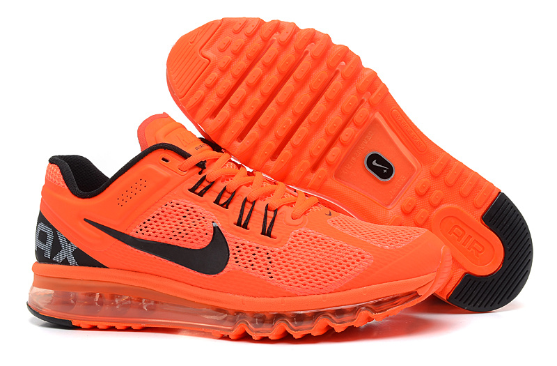 air max noir et orange fluo