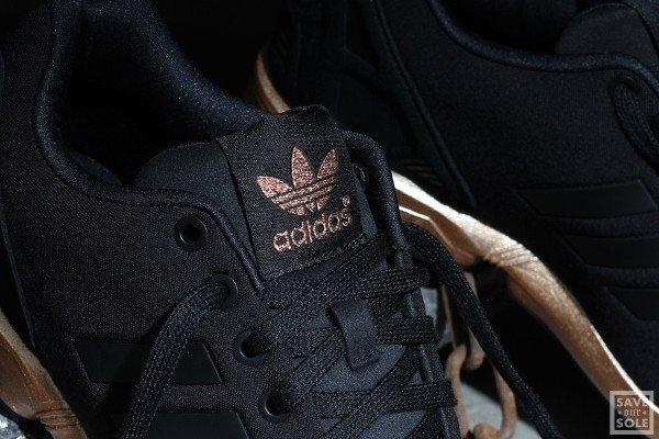 basket adidas noir et doré